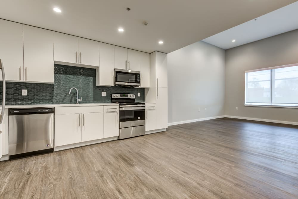 1 bedroom open kitchen at The Forge in Buffalo, New York