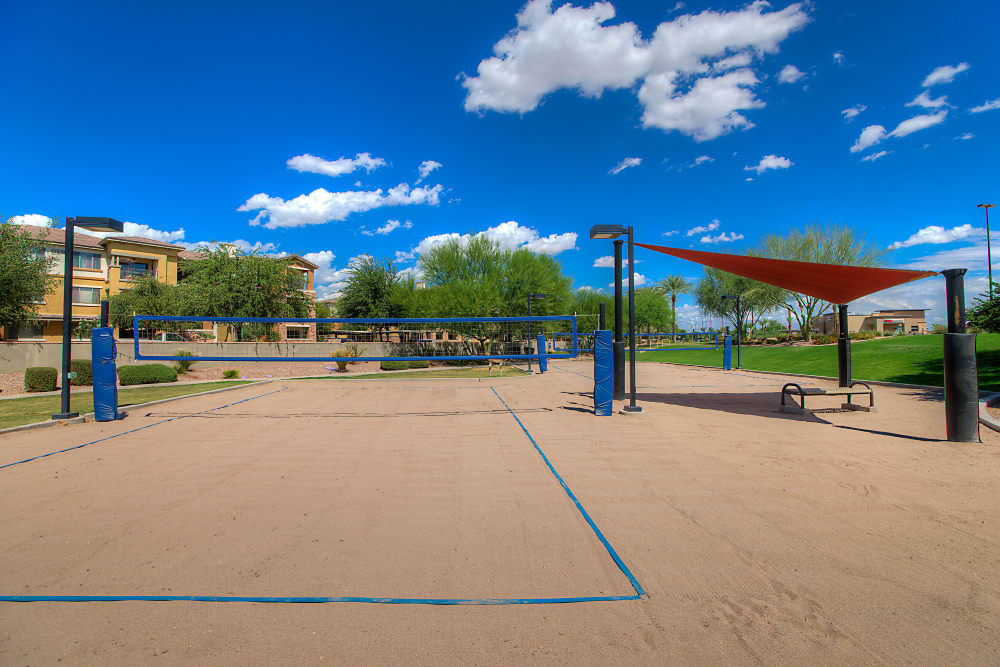 Onsite volleyball court at Azul at Spectrum in Gilbert, Arizona