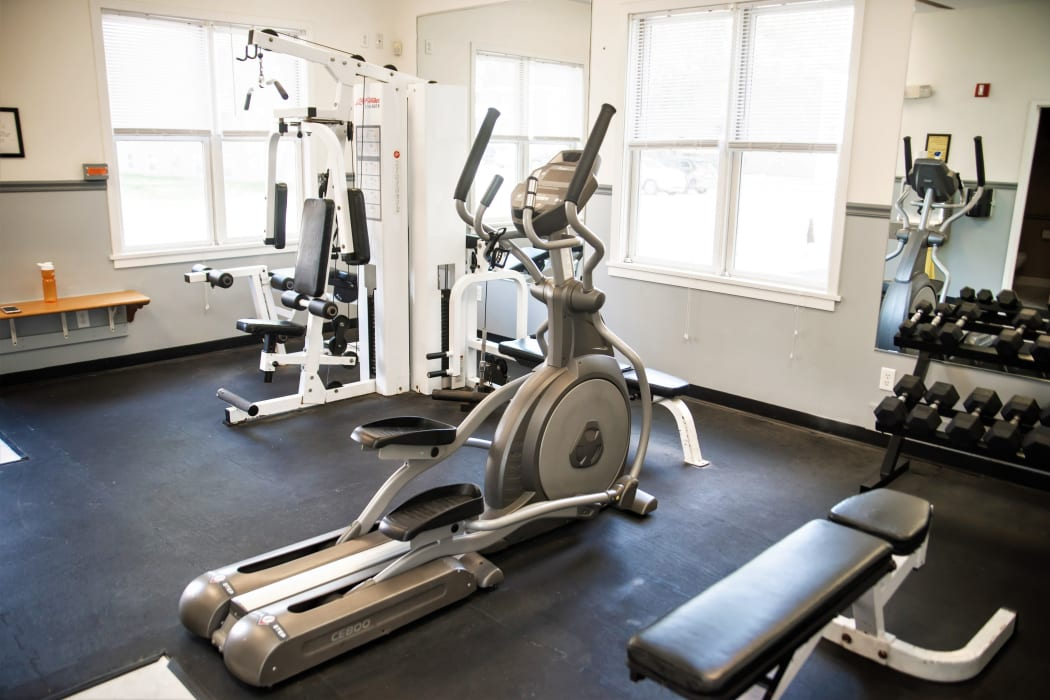On-site fitness center at Harborside Manor in Liverpool