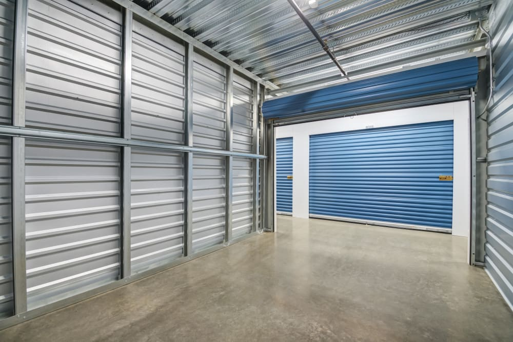 Spacious interior units at Silverhawk Self Storage