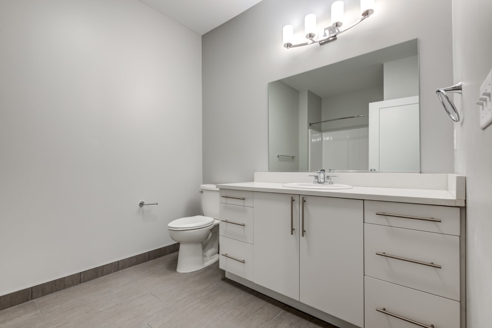 Spacious bathroom at The Forge in Buffalo, New York