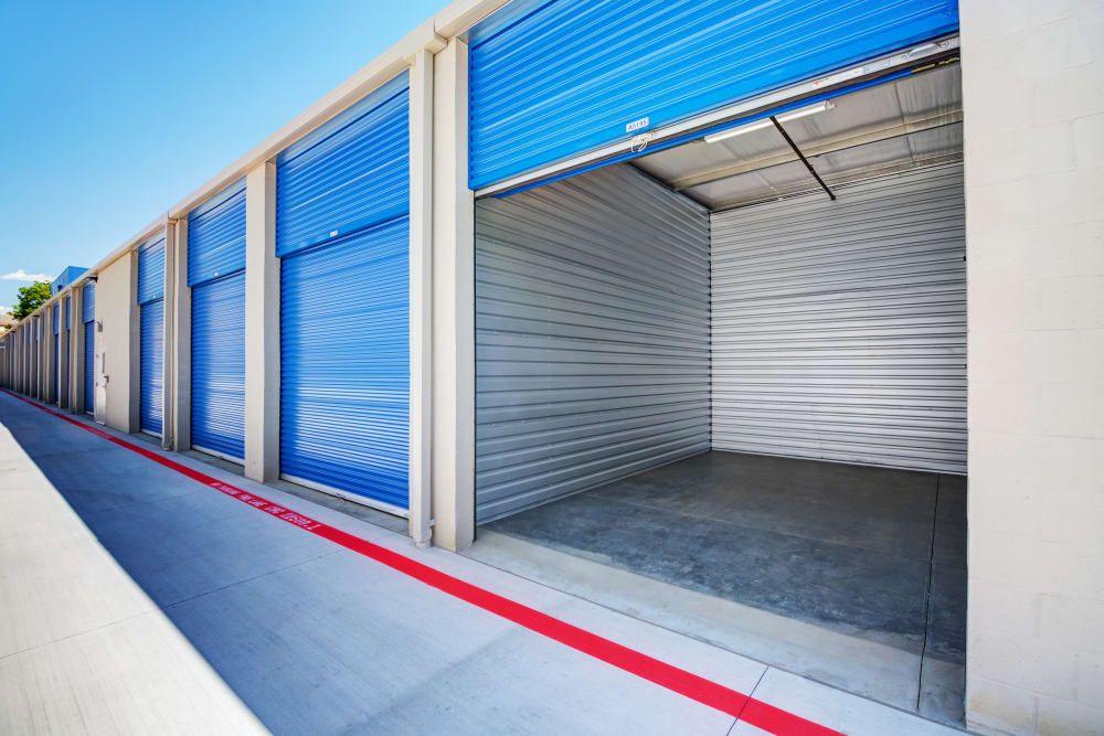 Clean exterior units at Silverhawk Self Storage