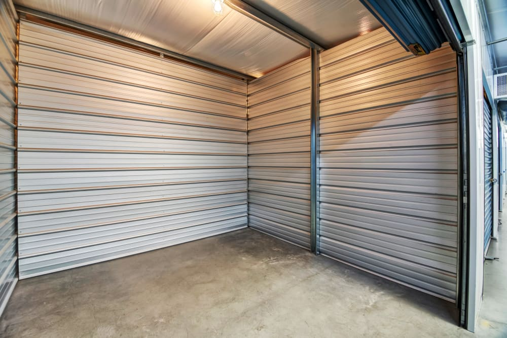 Well-lit unit at Smart Self Storage of Eastlake