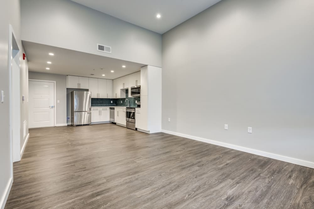 1 bedroom open floor plan at The Forge in Buffalo, New York