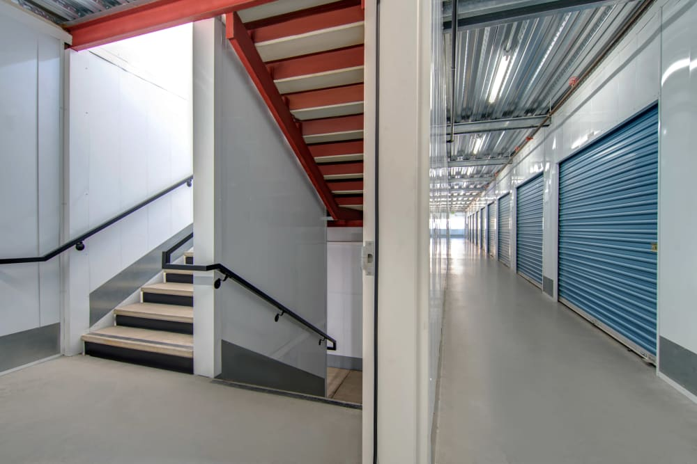 Interior staircase at Jamacha Point Self Storage in Spring Valley, CA