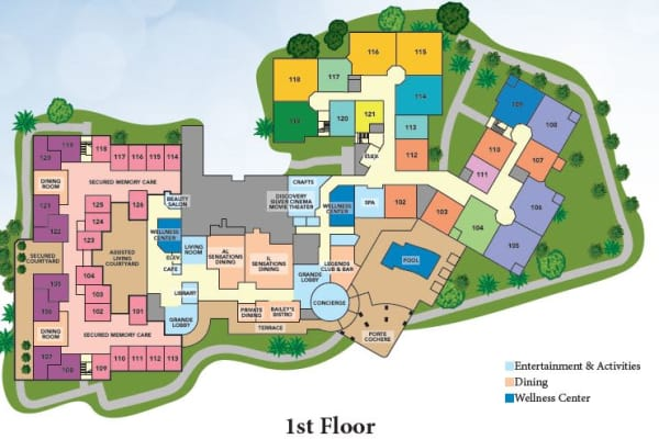 Site Plan for The Grande Clubhouse at Discovery Village At Melbourne in Melbourne, FL