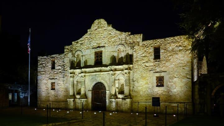 Old haunted building in San Antonio near Tacara at Westover Hills