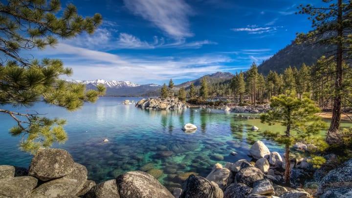 Sand Harbor area of Lake Tahoe