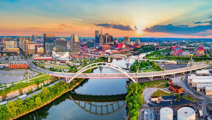 The Nashville, Tennessee, skyline