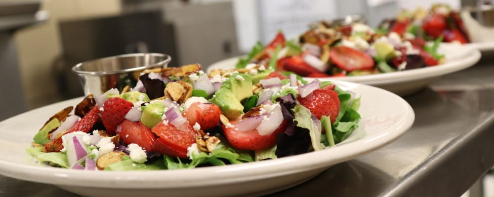 Delicious salads offered at dinning room at The Springs at Sunnyview in Salem, Oregon