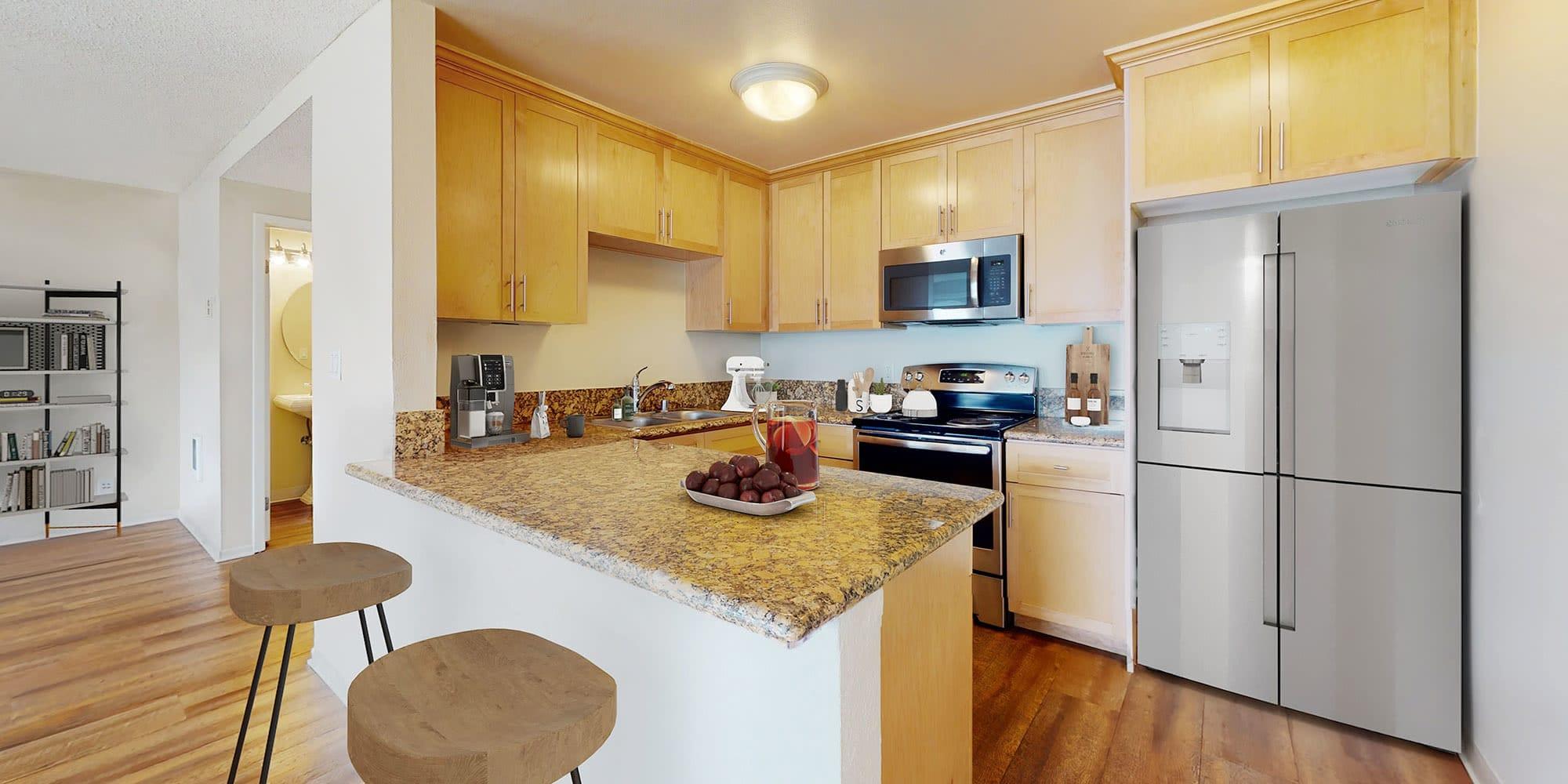 Kitchen at The Tides at Marina Harbor in Marina del Rey, California
