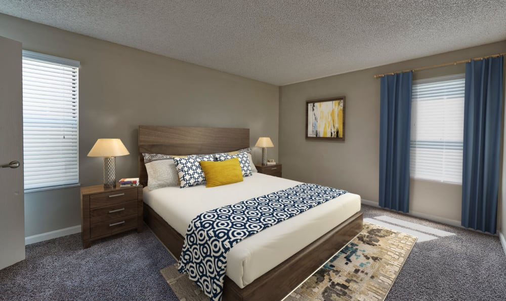 Bedroom model at Montair Apartment Homes