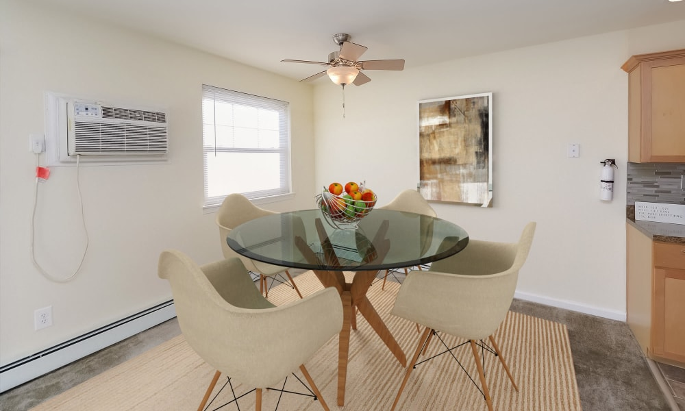Dining Room at Hill Brook Place Apartments in Bensalem, Pennsylvania