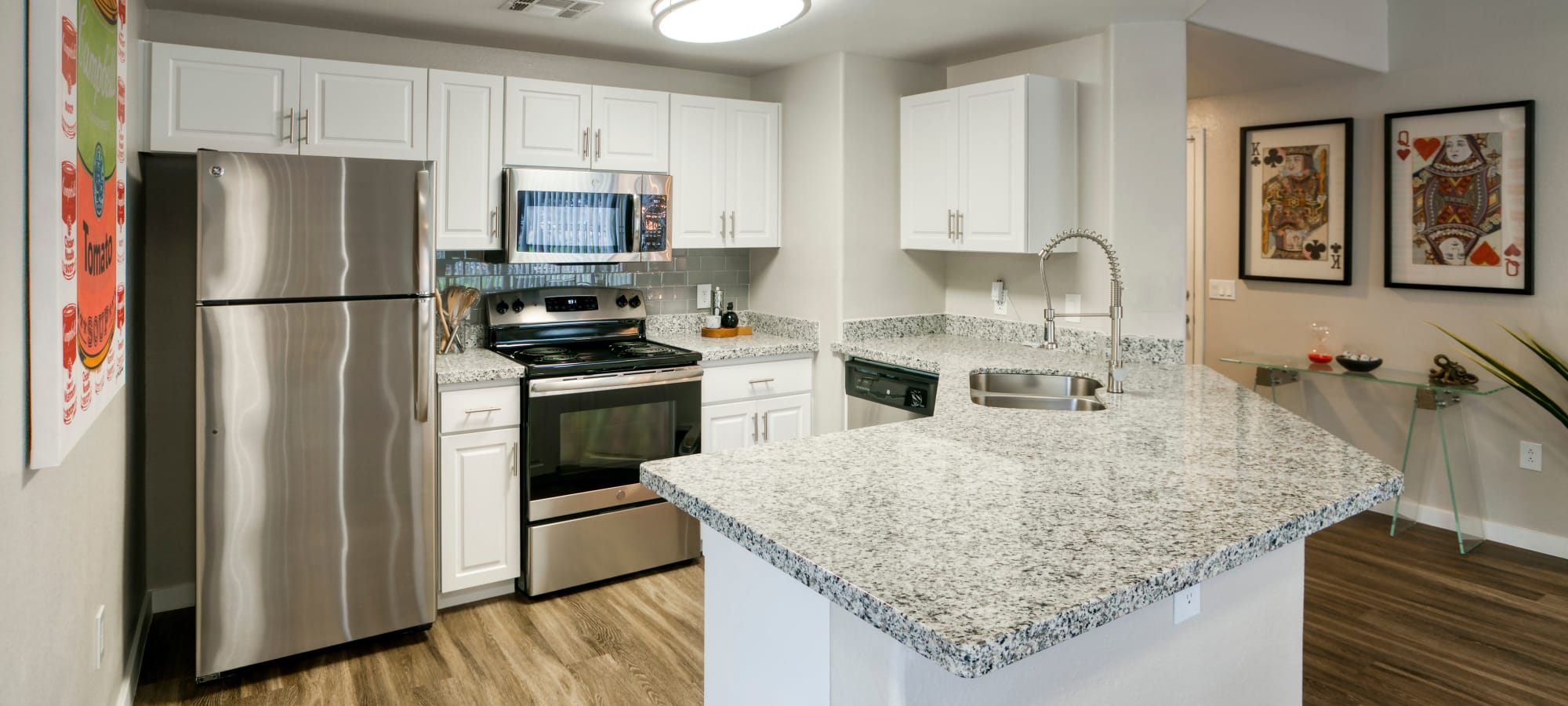 Stainless Steel Appliances in an Open Kitchen at Waterside at Ocotillo
