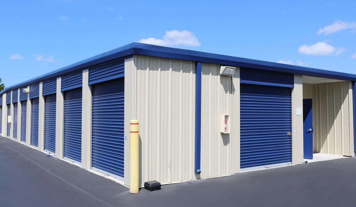 Exterior units at Midgard Self Storage in Tanner, AL