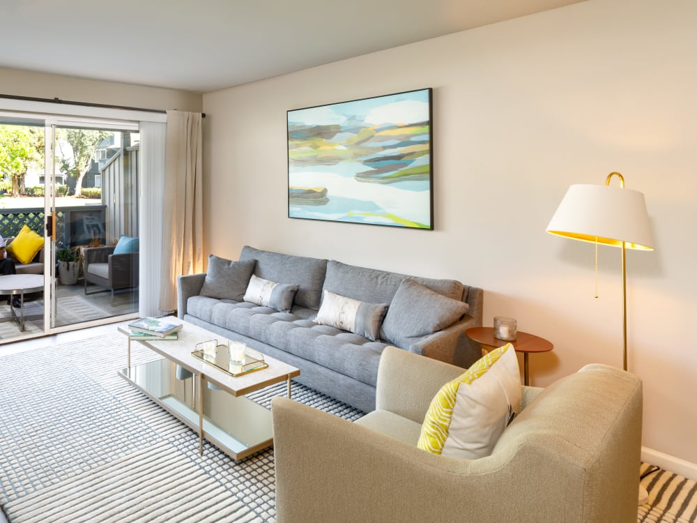 Spacious and modern open-concept floor plan in a model home at Sofi Waterford Park in San Jose, California