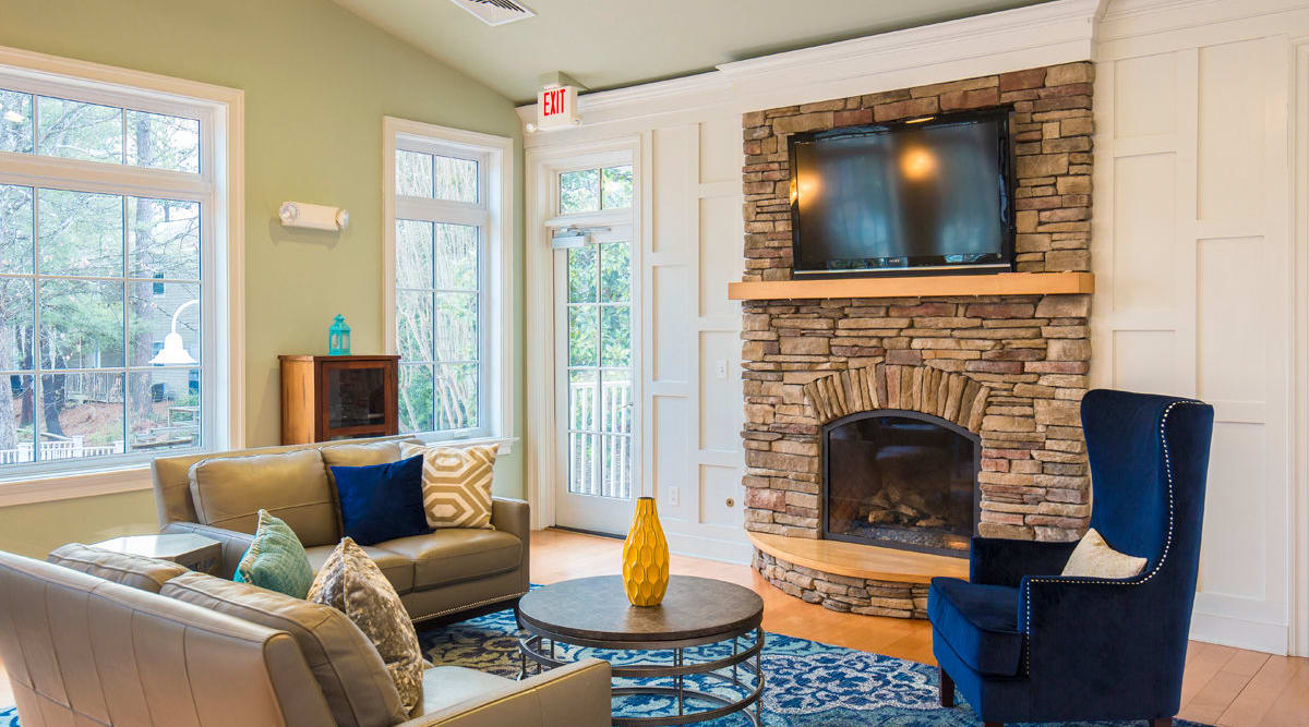 Fireplace at Harbor Village Apartments in Richmond, Virginia