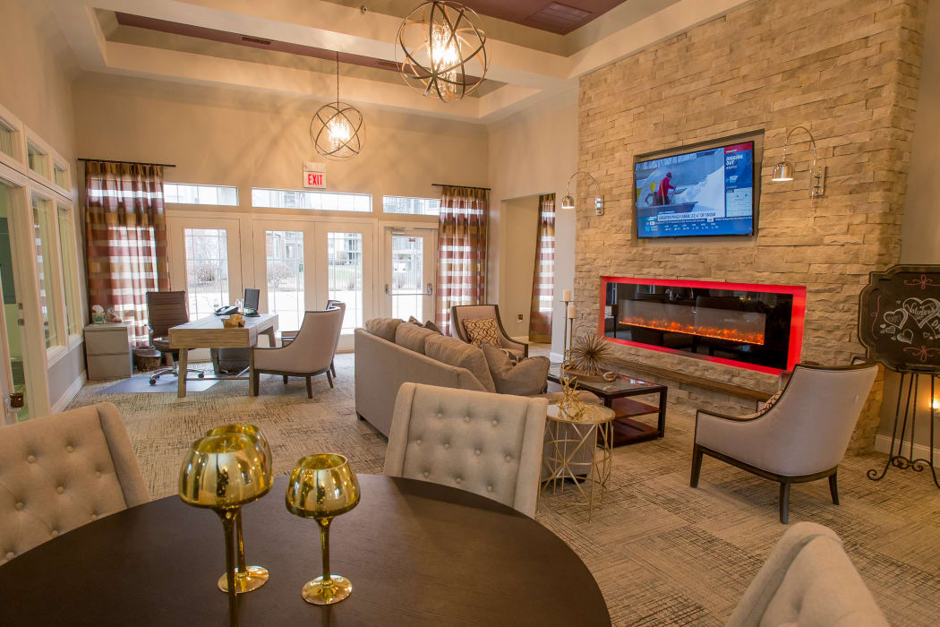 Beautiful clubhouse at Villas of Waterford Apartments in Wichita, Kansas