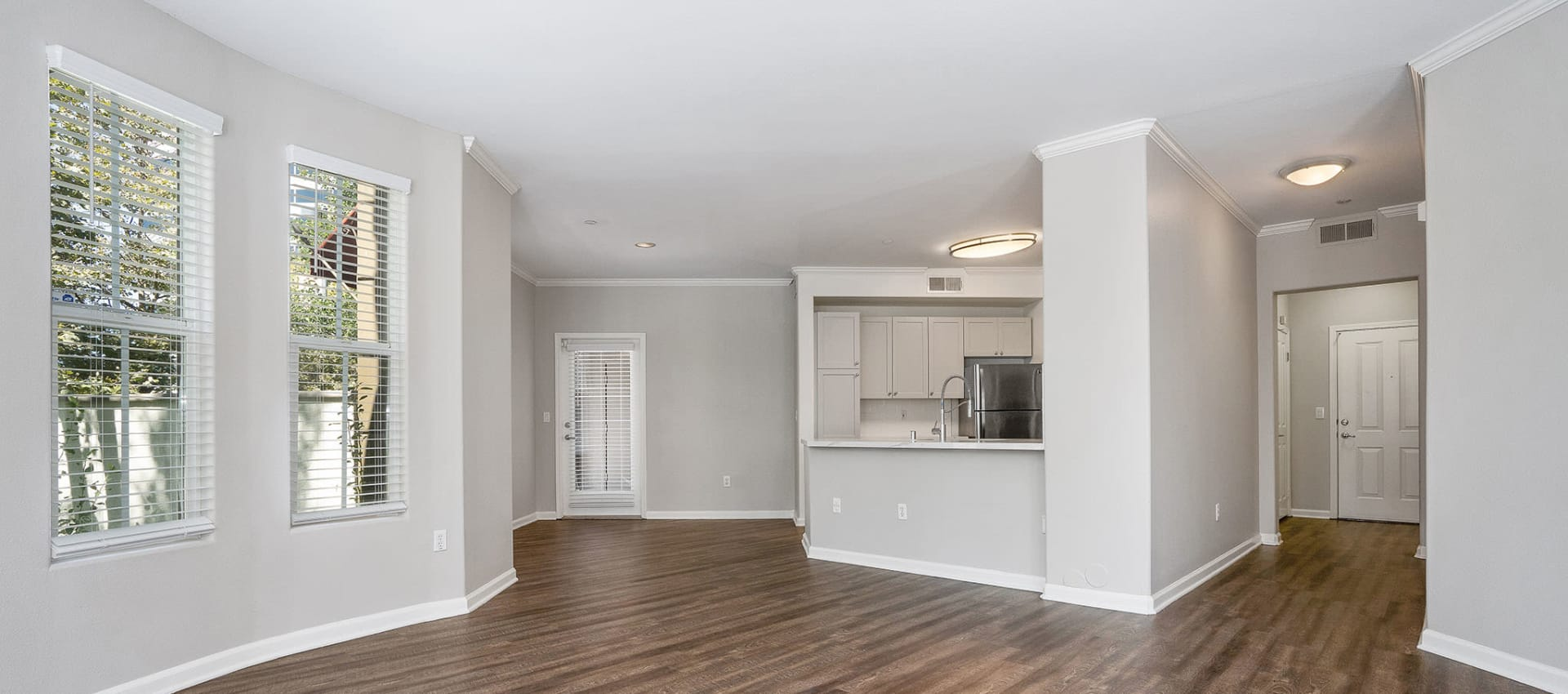 Open floor plan at Park Central in Concord, California