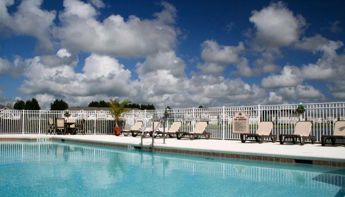 luxury outdoor pool at Walker Woods