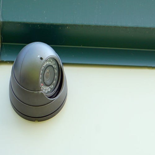State of the art security cameras at Red Dot Storage in LaGrange, Georgia