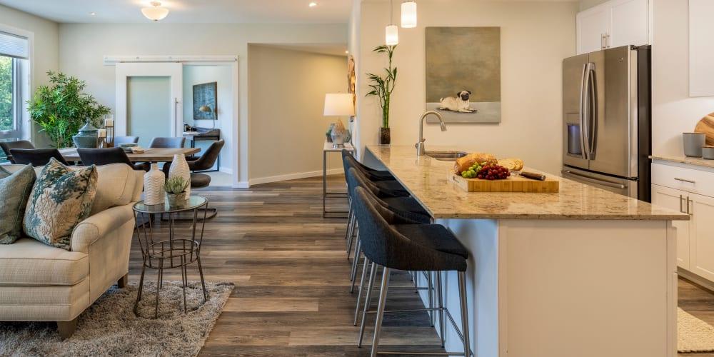 upscale senior living apartment at The Springs at Lancaster Village in Salem, Oregon