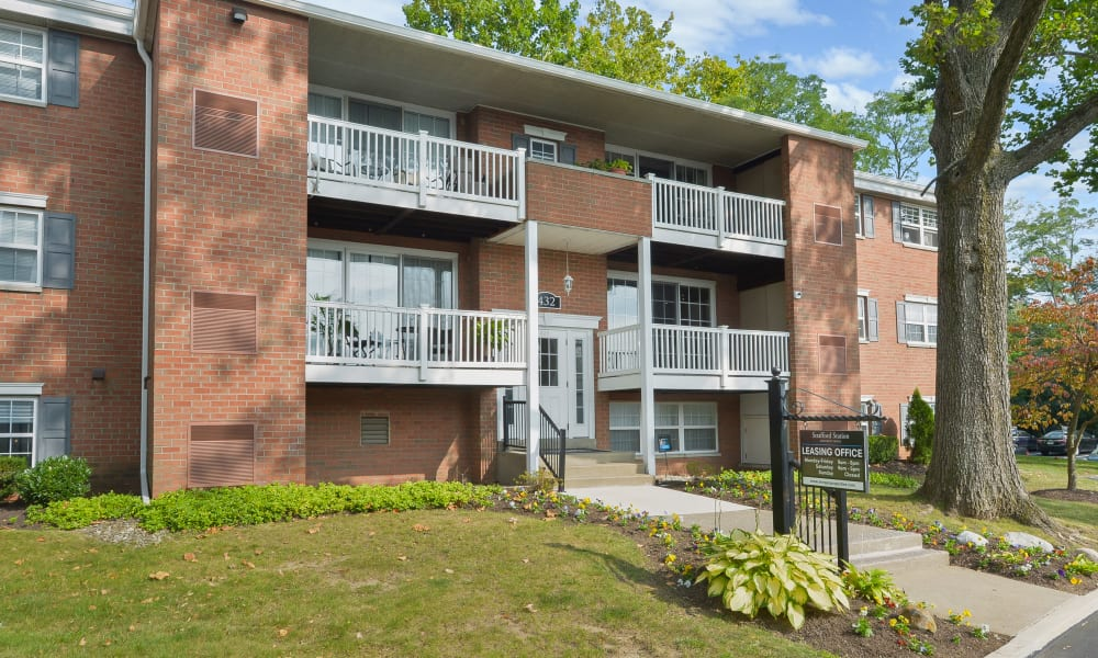 Leasing Office at Strafford Station Apartments in Wayne, Pennsylvania