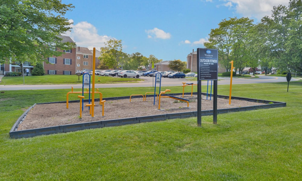Outdoor Fitness Center at Woodacres Apartment Homes in Claymont, DE