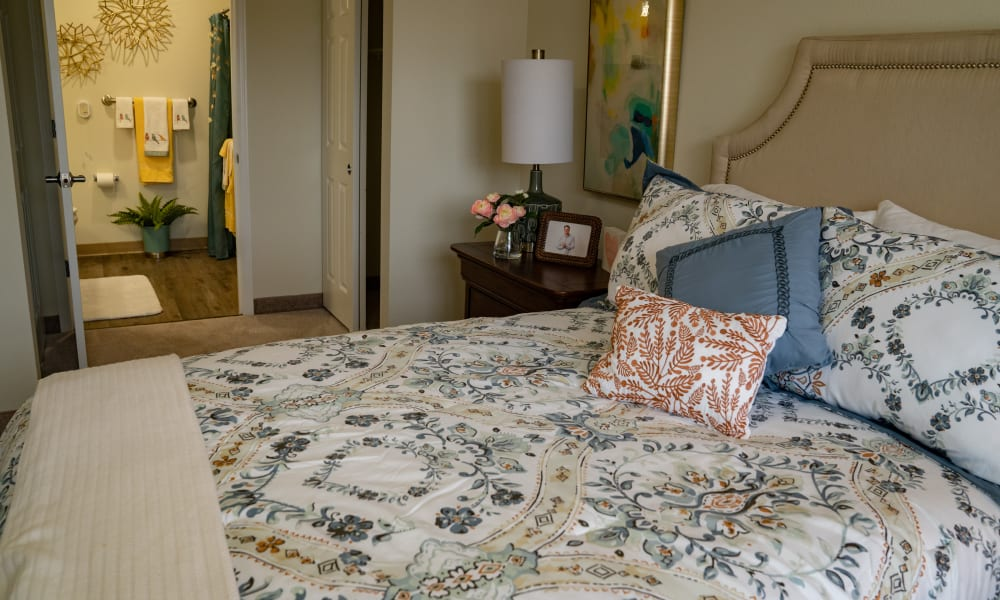 Bedroom at Wilshire Estates Gracious Retirement Living in Silver Spring, Maryland