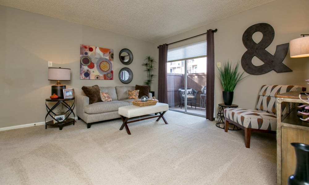 Well-lit bedroom at Walnut Ridge Apartments in Corpus Christi, Texas