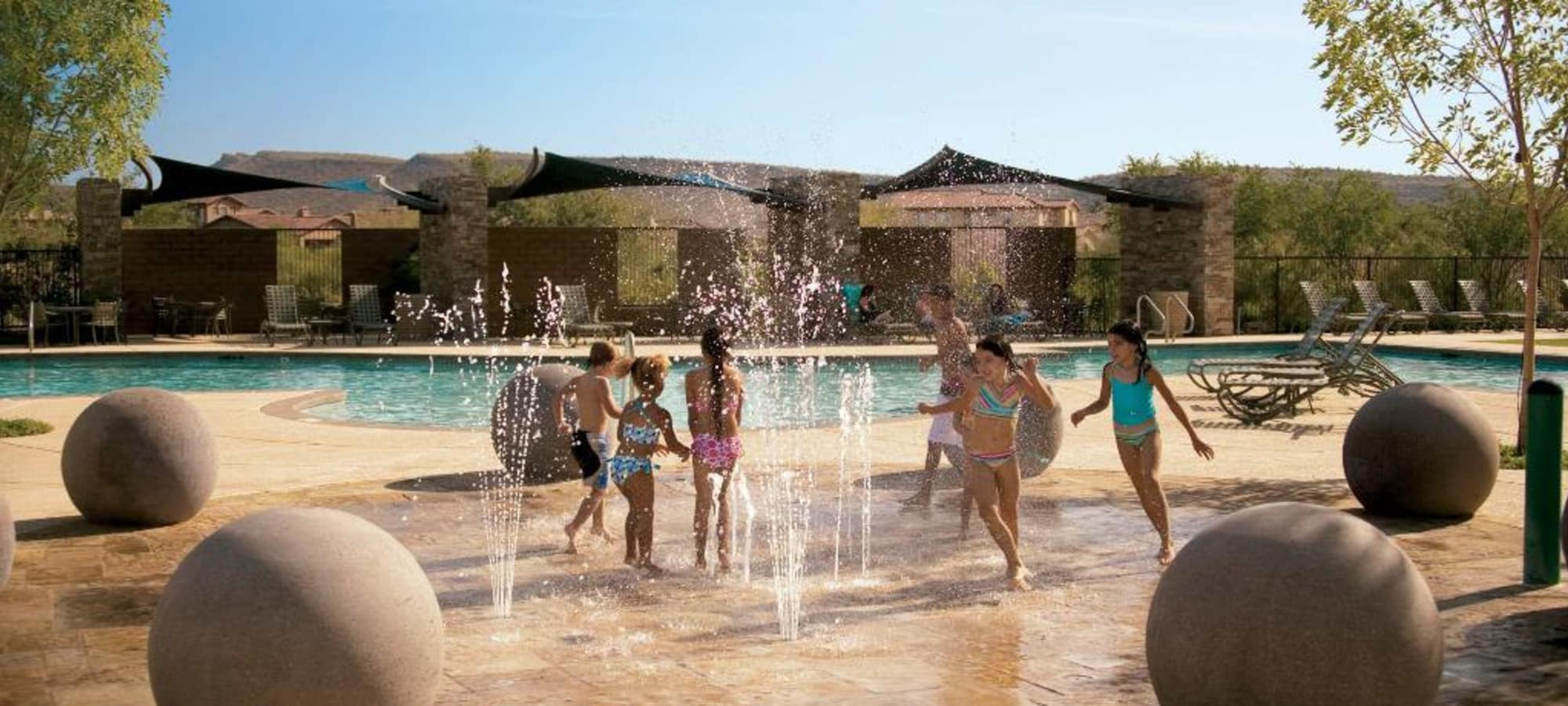 Splash pad at Vistancia in Peoria, Arizona
