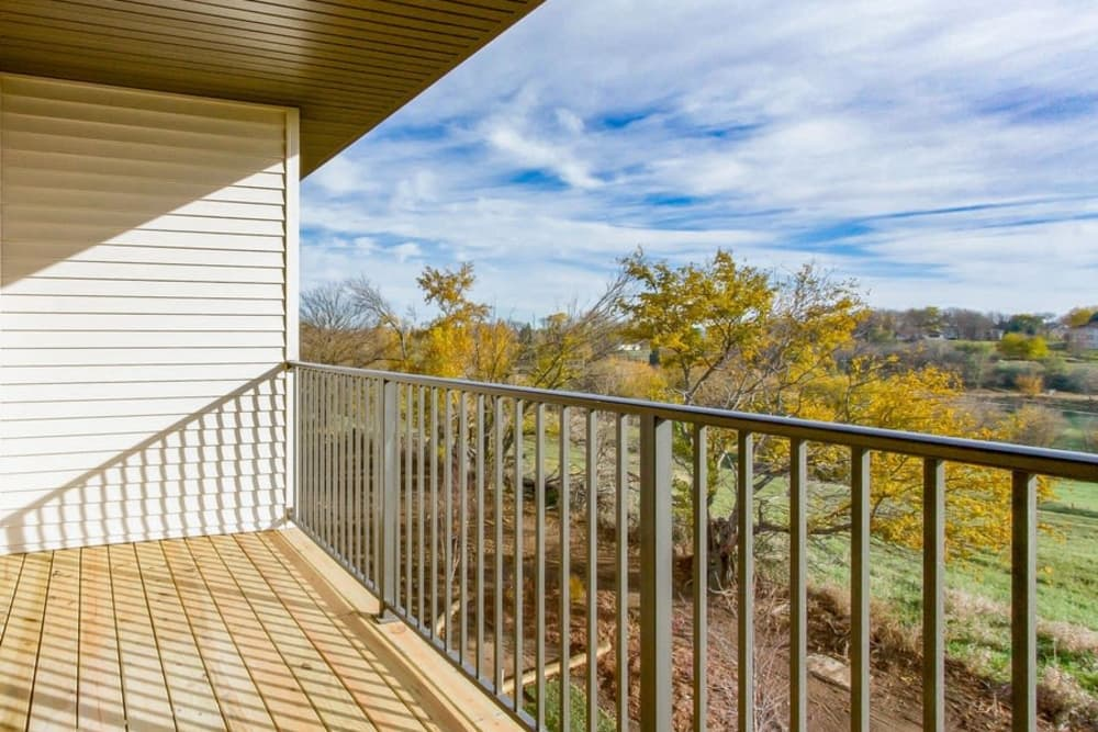 Balcony view at The Summit at Sunnybrook Village in Sioux City, Iowa