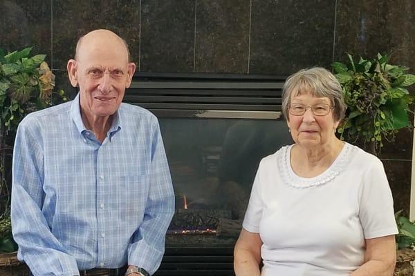 Merle and Gloria George at Salmon Creek in Boise, Idaho