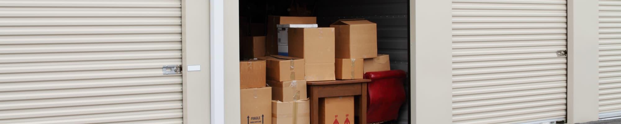 Self storage size guide at Box Self Storage Units
