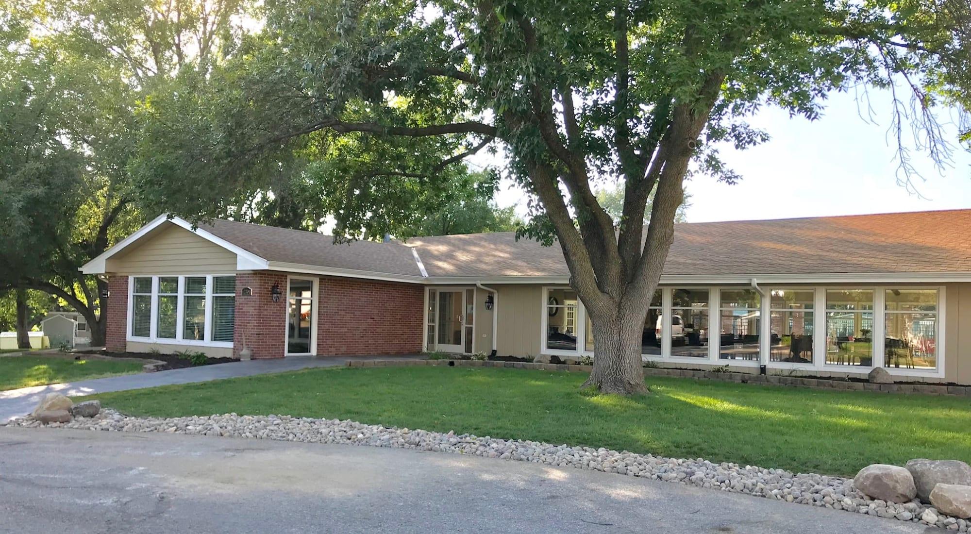 Mobile homes at Maplewood Estates in Omaha, Nebraska