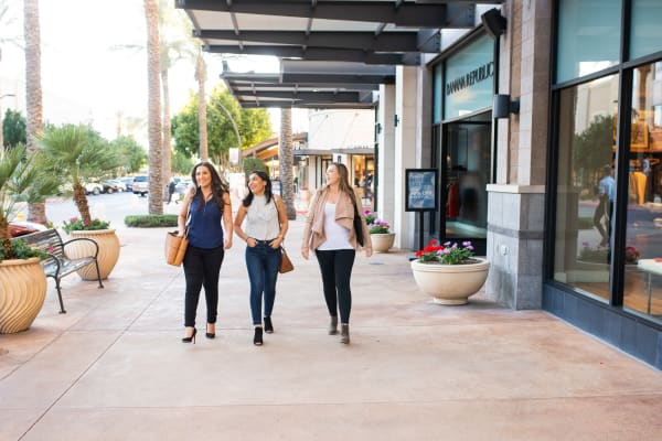 Residents shopping near BB Living at Val Vista in Gilbert, Arizona