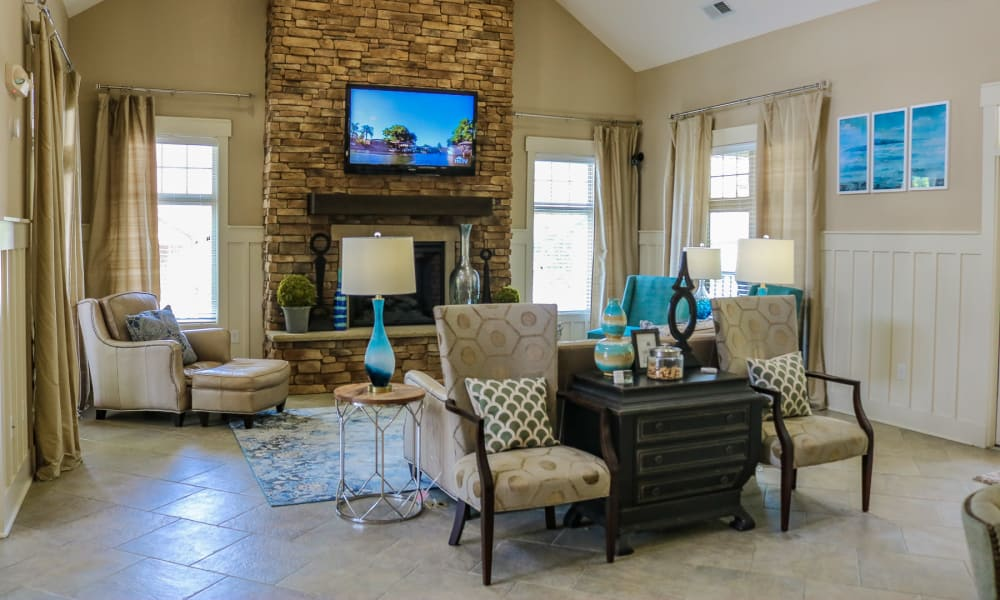 Beautiful living room at Townhomes at Chapel Watch Village in Chapel Hill, North Carolina