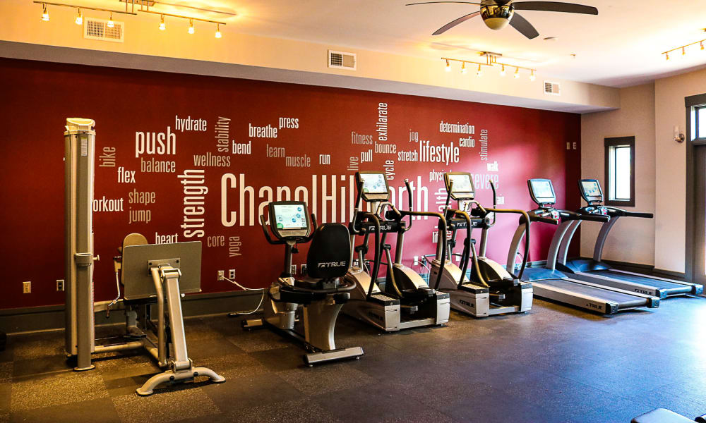 Spacious gym at Chapel Hill North