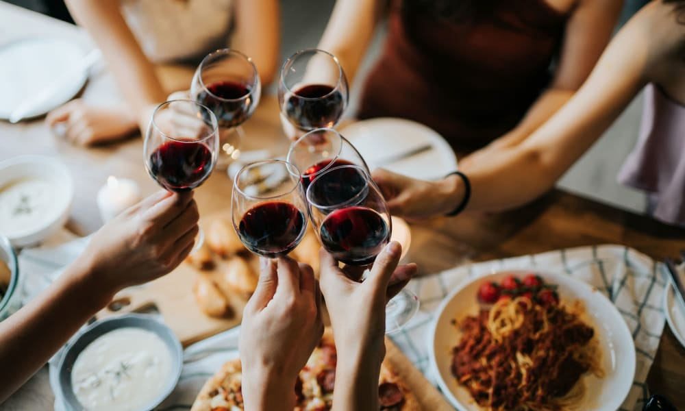 Residents enjoying a feast at their favorite restaurant near Mariners Village in Marina del Rey, California