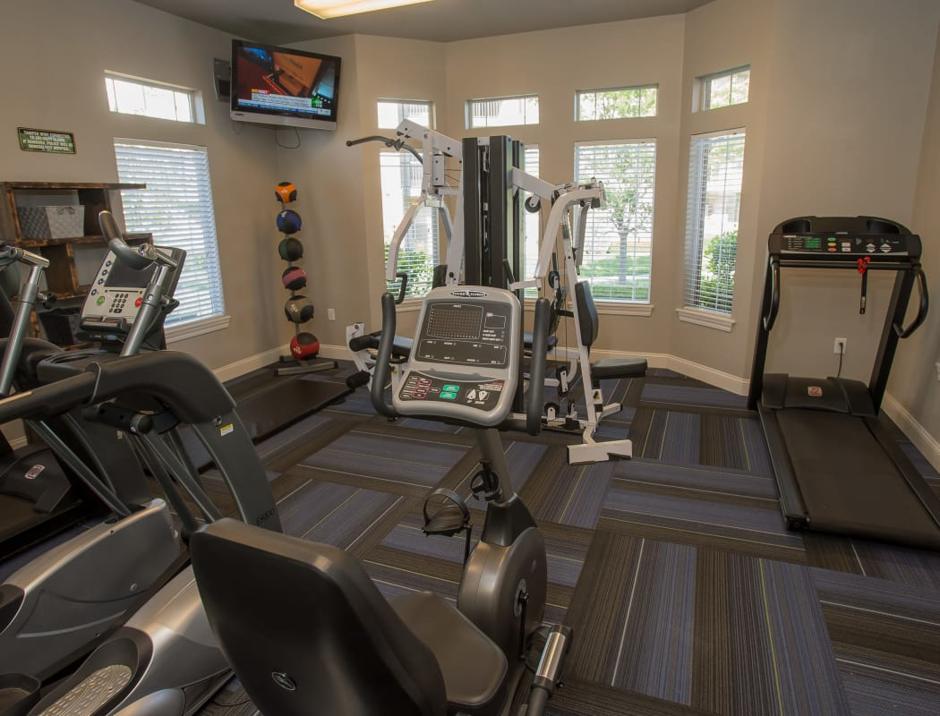 Fitness center at Villas of Waterford Apartments in Wichita, Kansas