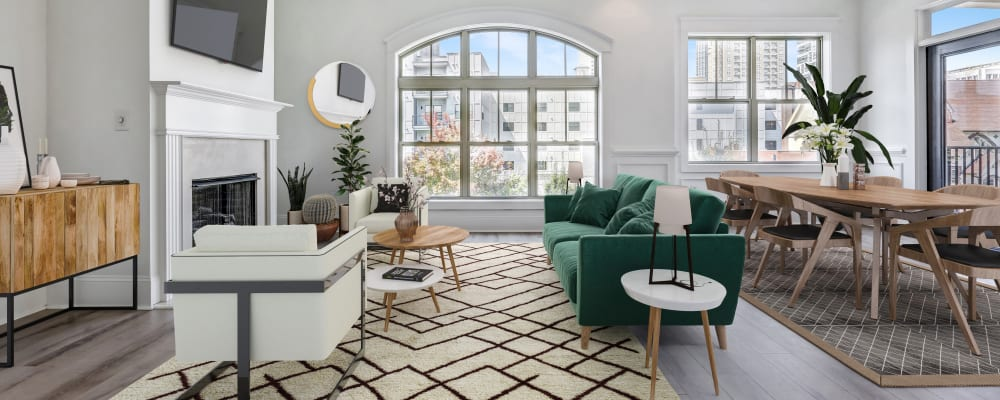 Apartment interior at a property owned by TriBridge Residential in Atlanta, Georgia