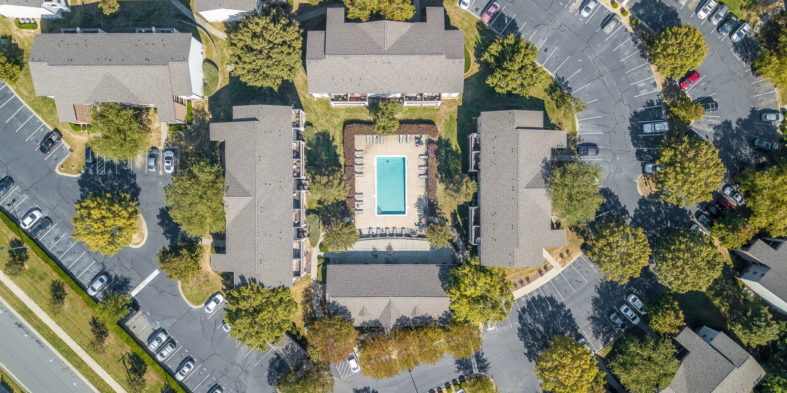 Ariel View at The Village at Brierfield Apartment Homes in Charlotte, North Carolina