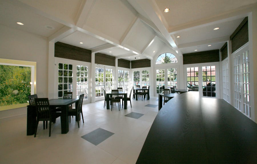 Community dining room at Citation Club in Farmington Hills, Michigan