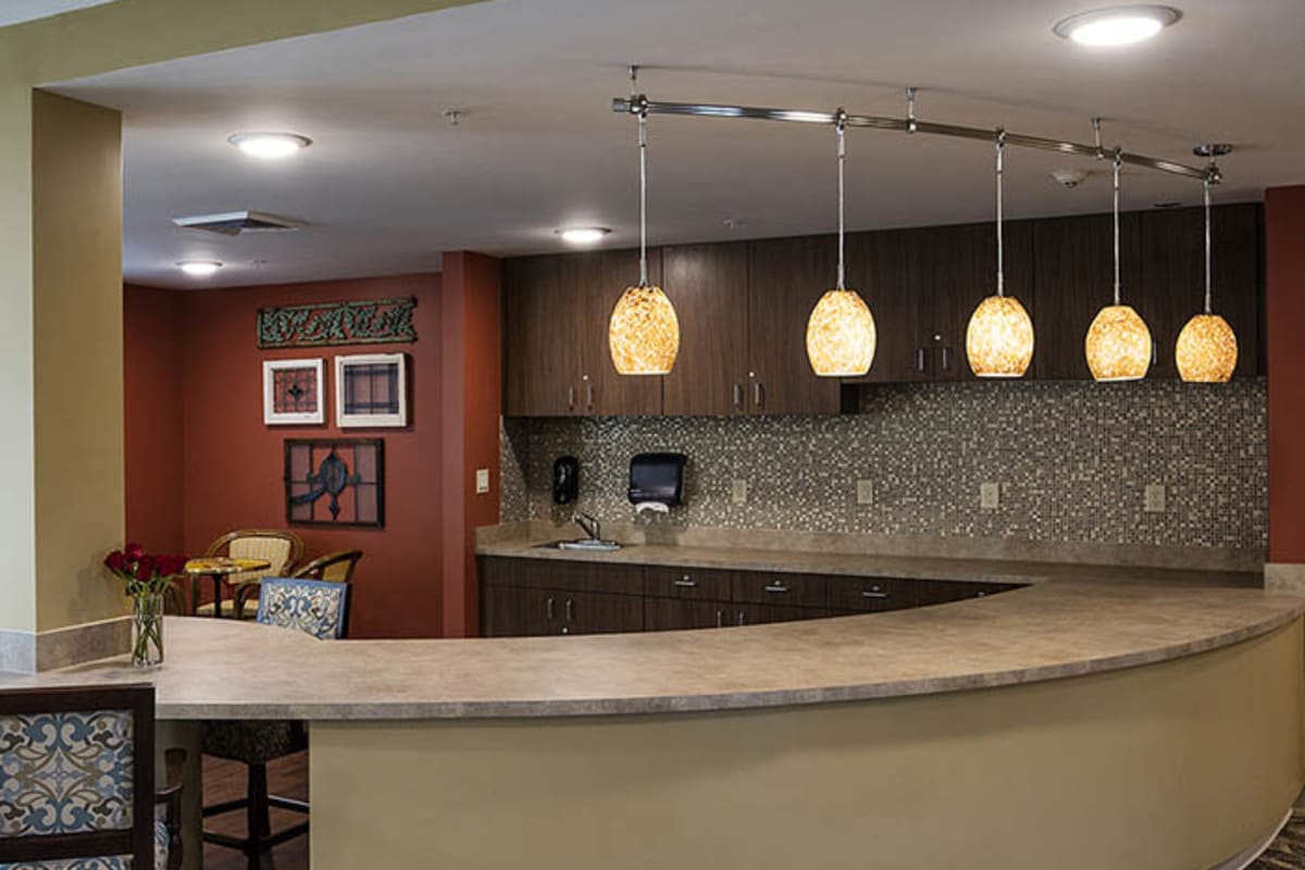 Coffee bar at The Oxford Grand Assisted Living & Memory Care in McKinney, Texas