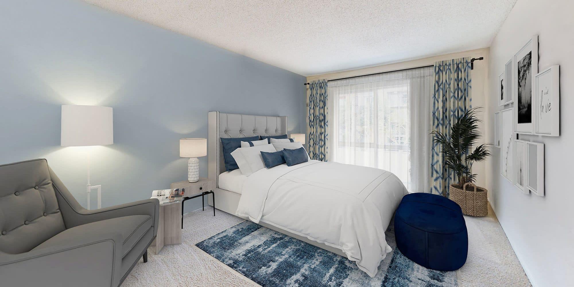Bedroom with a view at The Tides at Marina Harbor in Marina del Rey, California