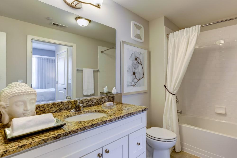Bright bathroom at The Oaks Of Vernon Hills in Vernon Hills, Illinois
