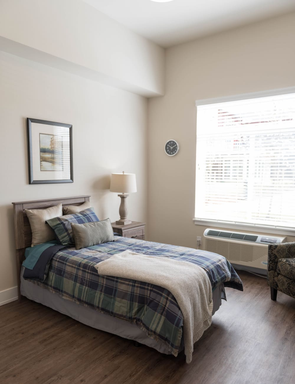 comfortable bedroom at Waverly Place