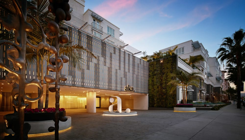 Exterior view of a luxury hotel in Beverly Hills purchased by Electra America in Lake Park, Florida