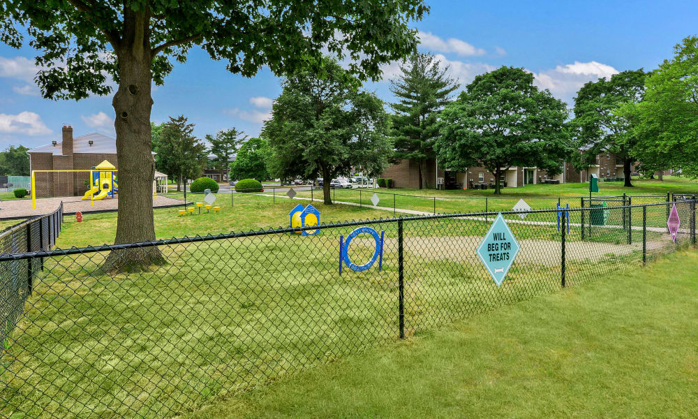 The playground is full of fun while also being gated at Lumberton Apartment Homes
