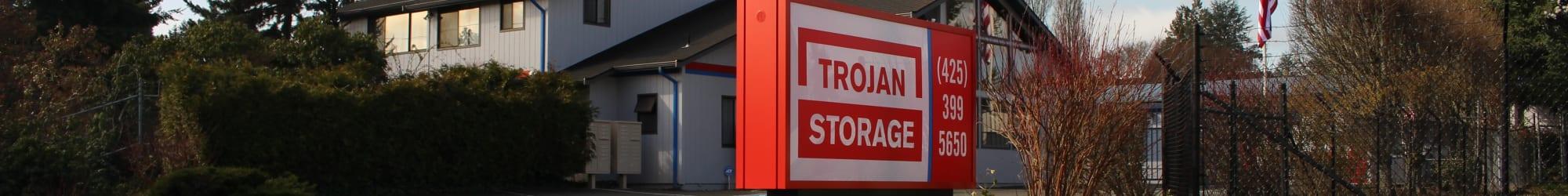 Self storage features at Trojan Storage in Everett, Washington